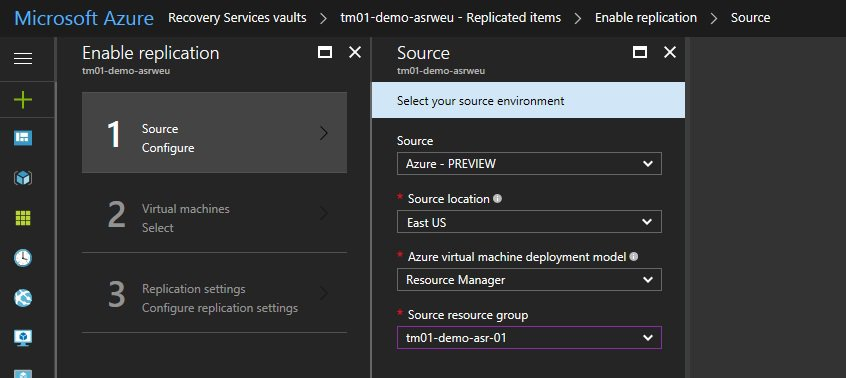 Azure to Azure Site Recovery Setup