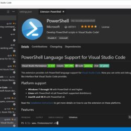 PowerShell for Visual Studio Code