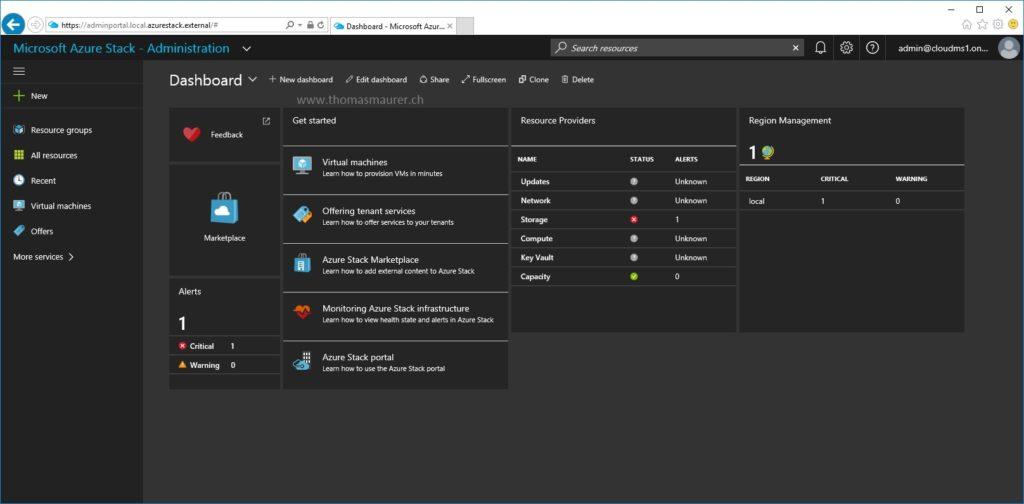 AzureStack Admin Portal