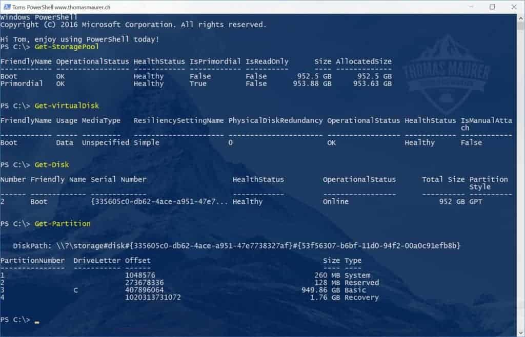 Boot from Storage Spaces Virtual Disk in Windows 10 - Thomas