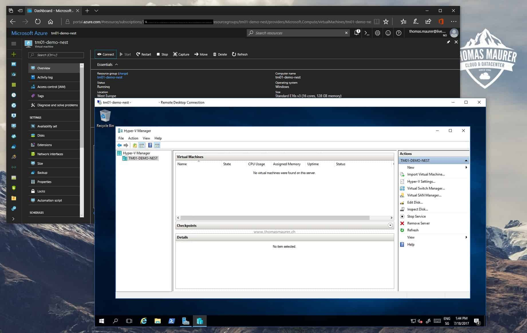 How to set up Nested Virtualization in Microsoft Azure