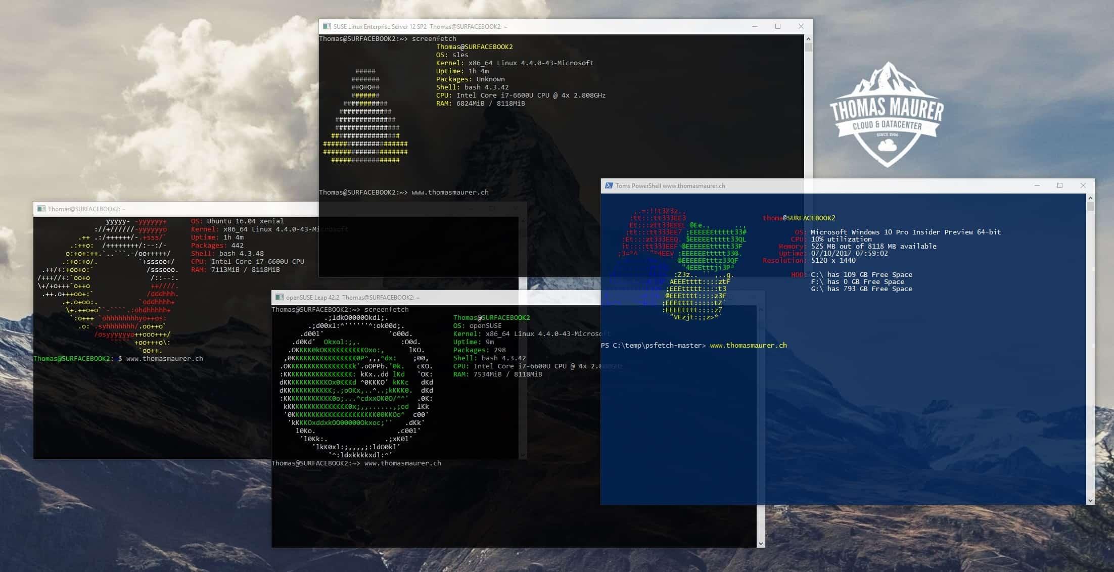 Linux on Windows 10