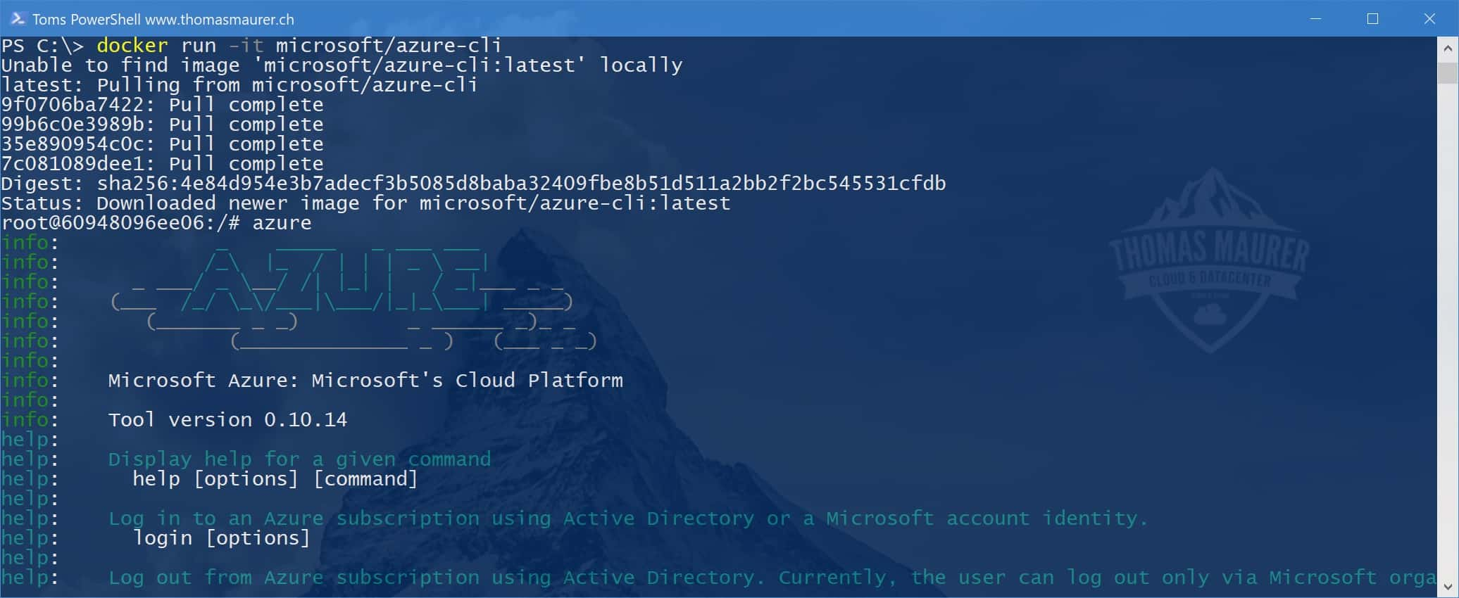 How to run Docker Linux Container on Windows 10 Fall Creator