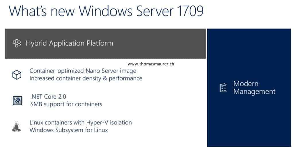 Windows Server 1709