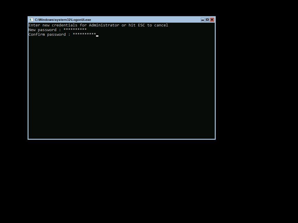 Windows Server 1709 Admin Password