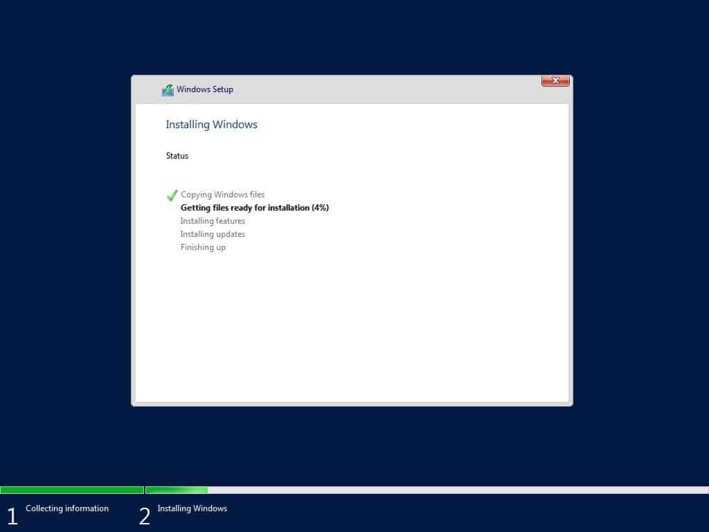 Windows Server 1709 Installation