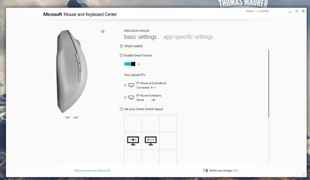 Microsoft Surface Percision Mouse Smart Switch