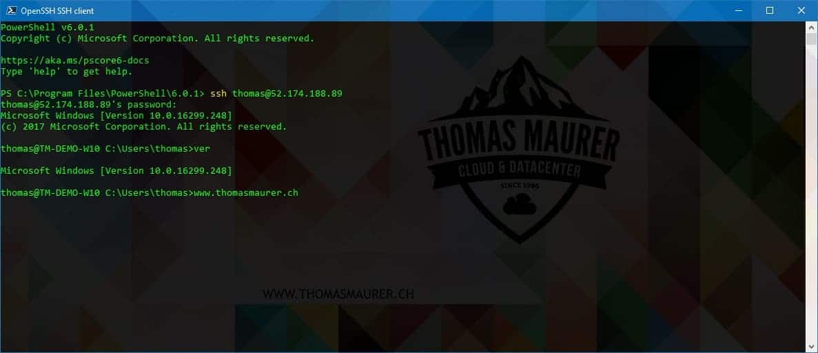 Install OpenSSH Server on Windows Server - Thomas Maurer