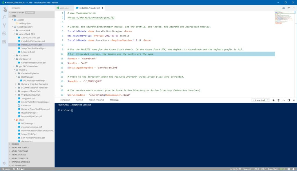 Visual Studio Code Theme PowerShell ISE