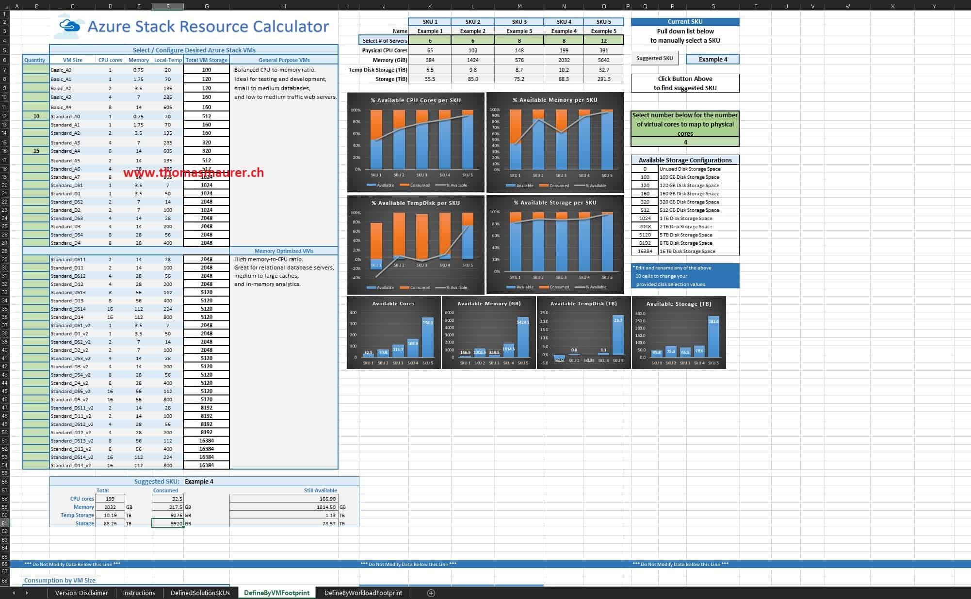 azure stack capacity calculator tool thomas maurer