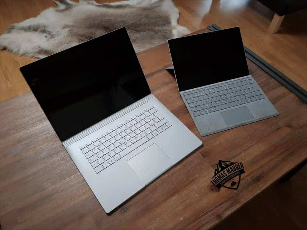 Surface Book 2 and Surface Pro
