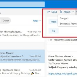 encrypted messages in Outlook.com