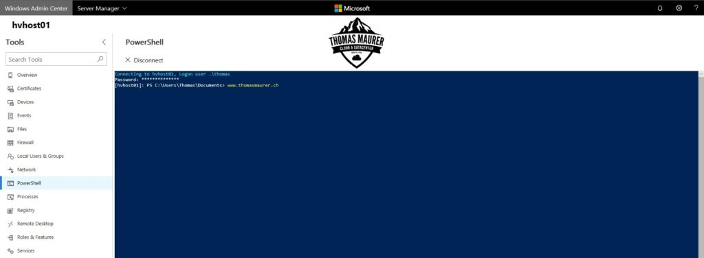 Windows Admin Center PowerShell