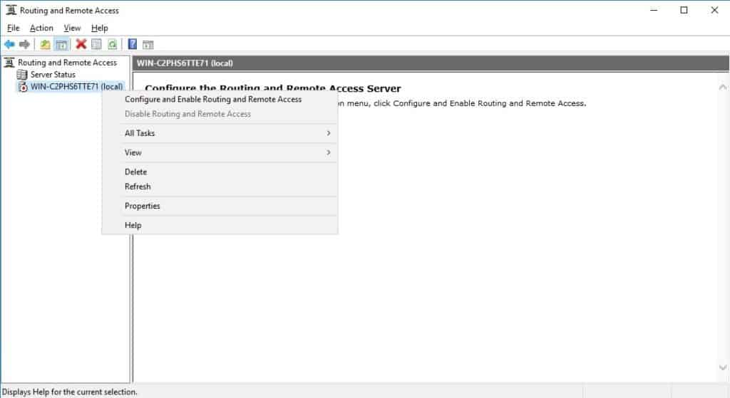 Configure and Enable Routing and Remote Access VPN