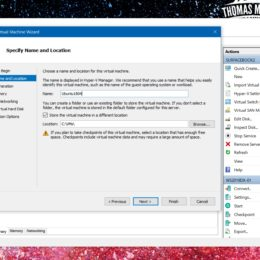 Create Ubuntu Hyper-V Generation 2 Virtual Machine