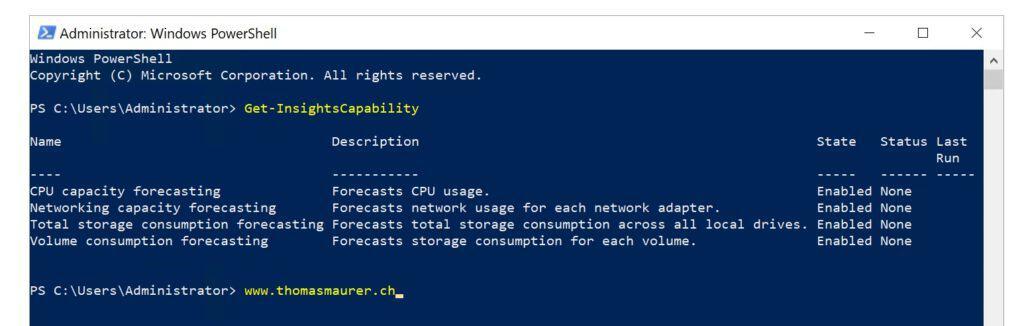 PowerShell Windows Server System Insights