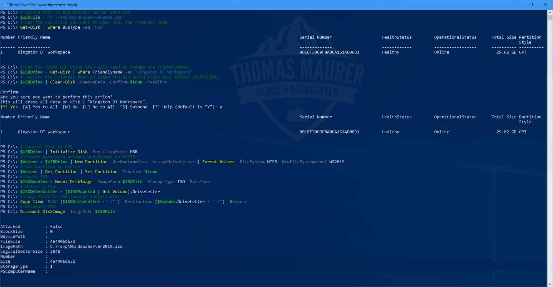 Create a USB Drive for Windows Server 2019 Installation - Thomas Maurer