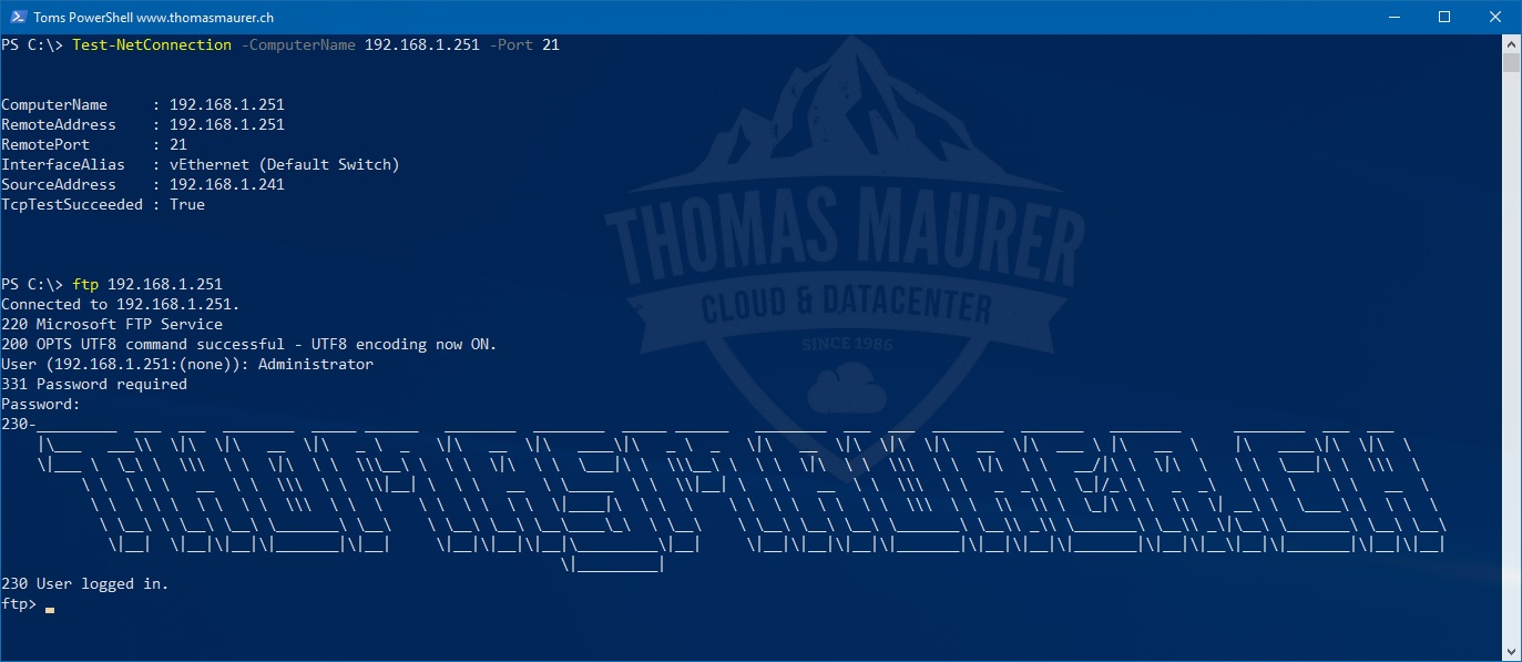 Install FTP Server on Windows Server - Thomas Maurer
