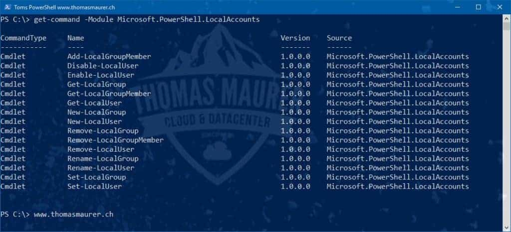 Manage Local Windows User with PowerShell - Thomas Maurer