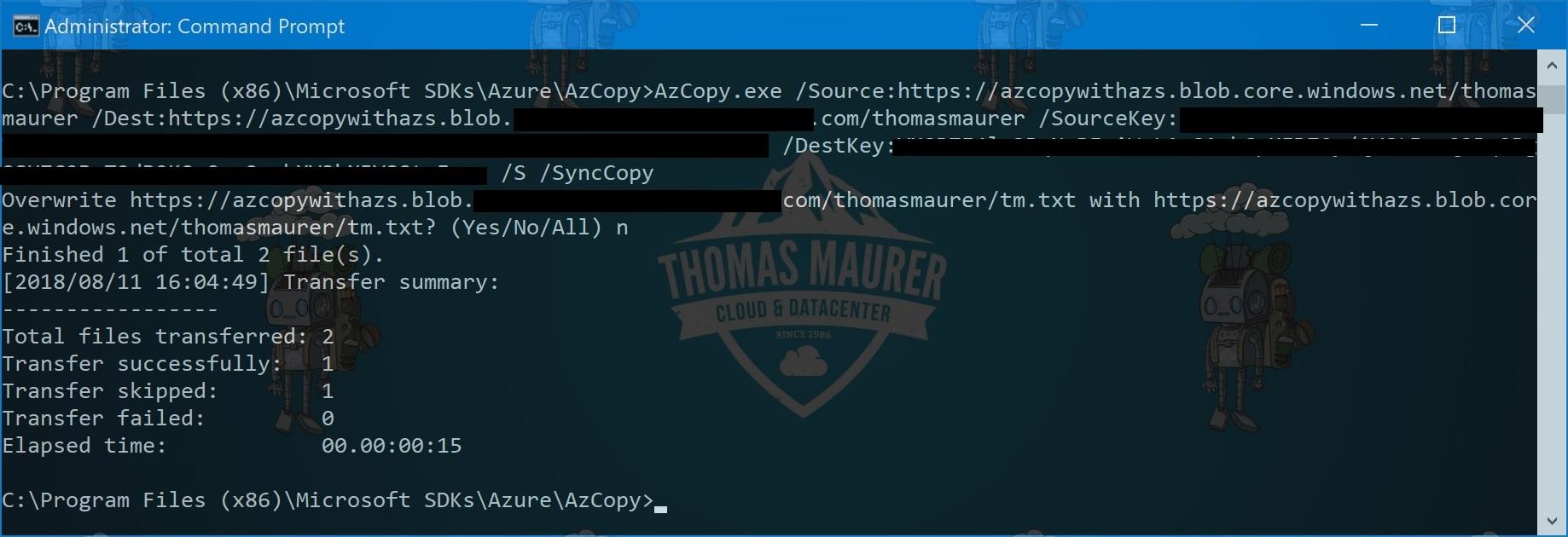 AzCopy Azure and Azure Stack