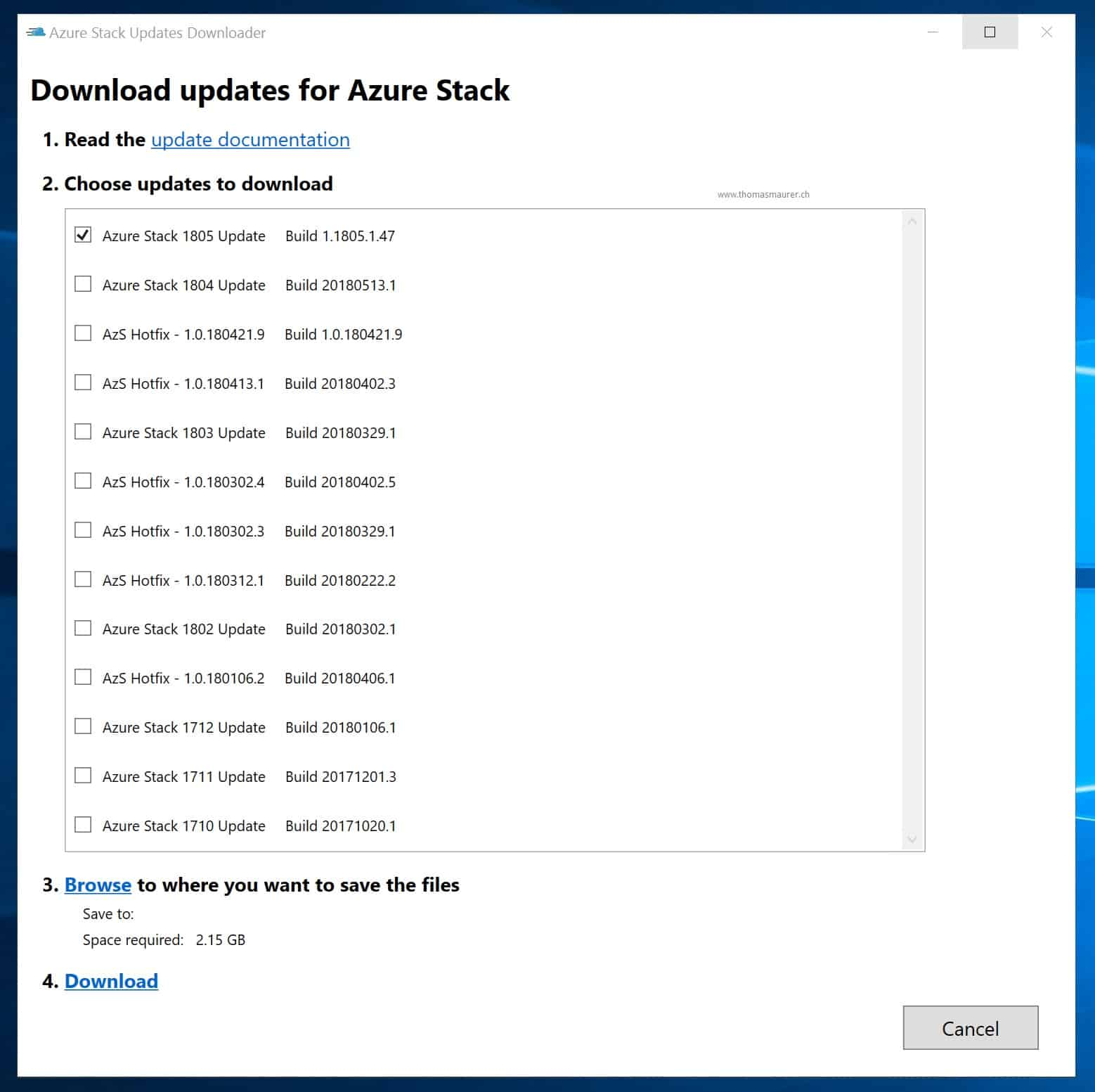 How to install and manage Azure Stack Updates - Thomas Maurer