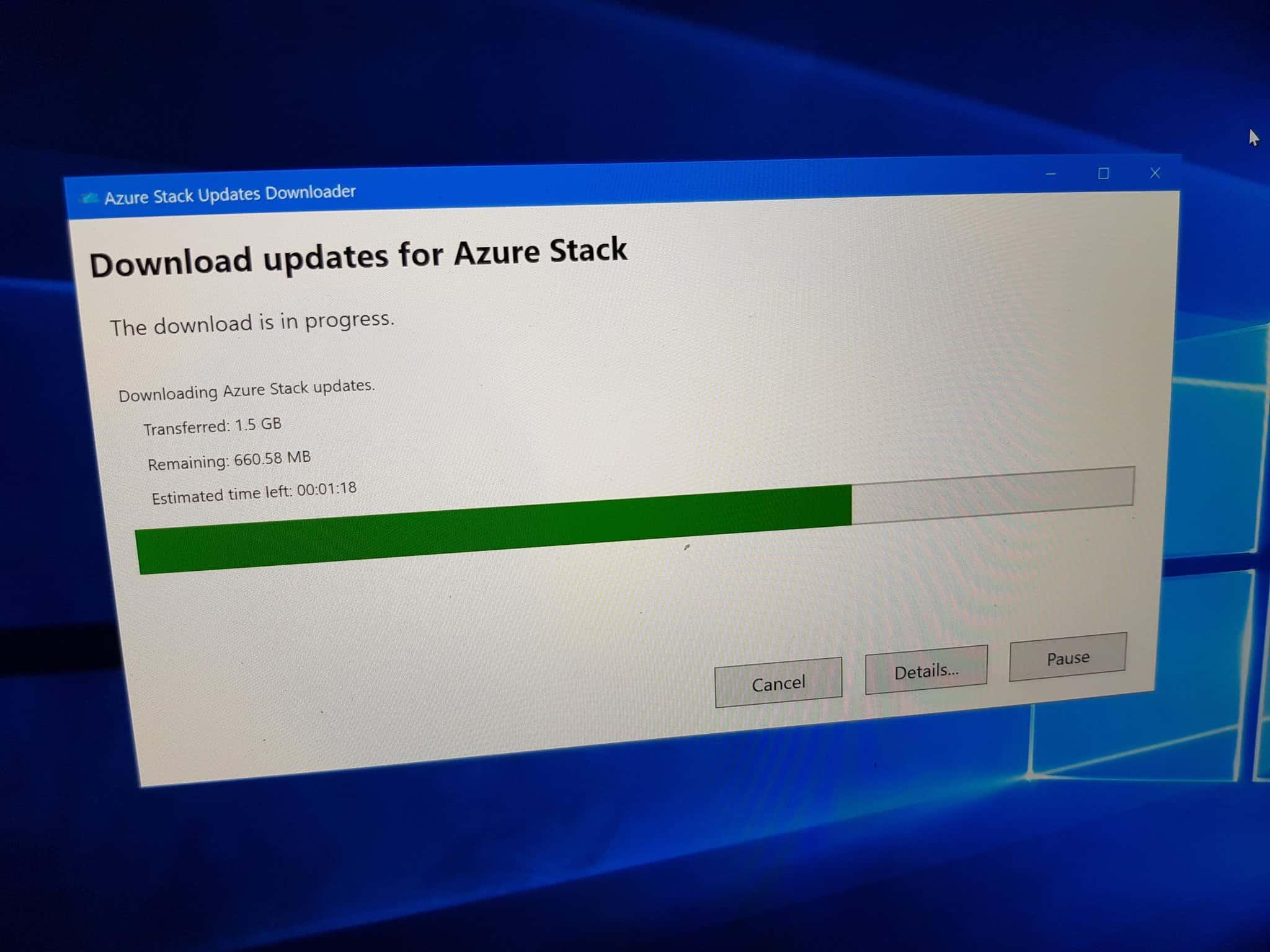 Download Azure Stack Update