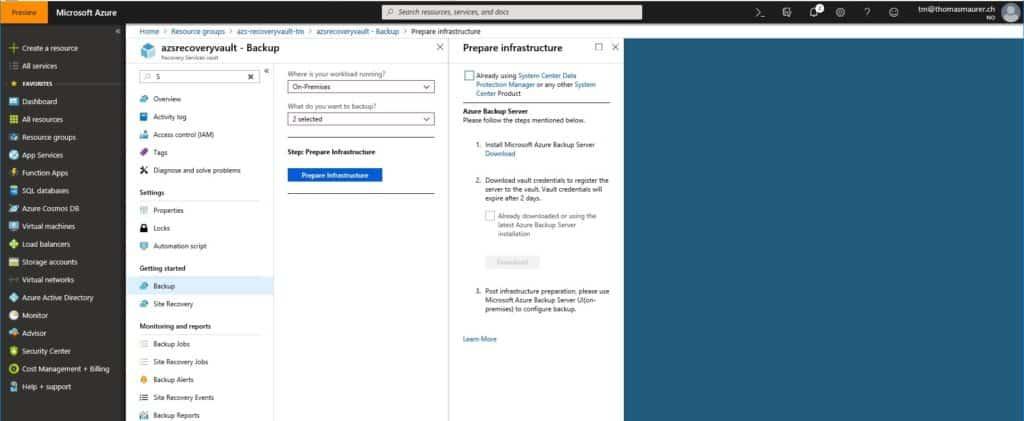 Download Microsoft Azure Backup Server