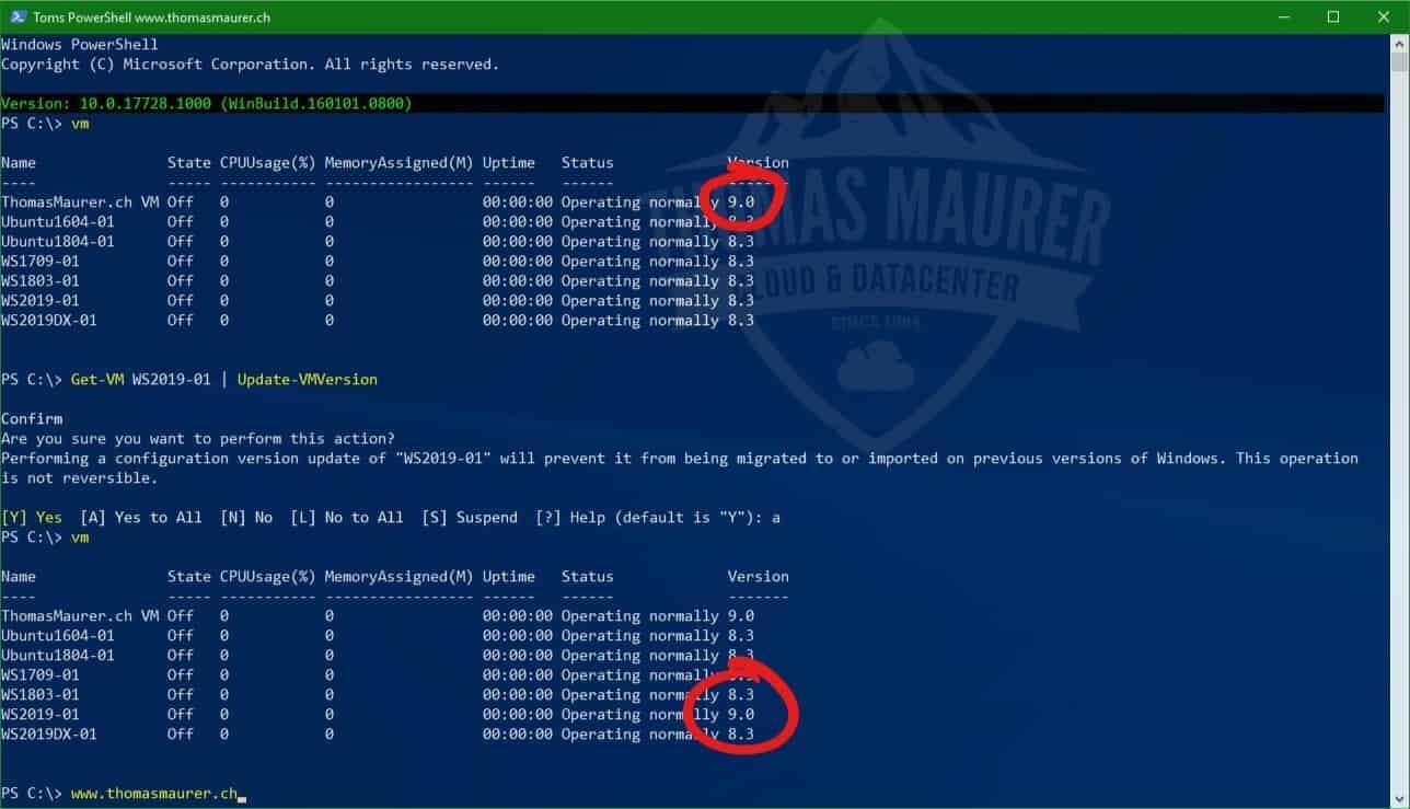 Windows Server 2019 and Windows 10 with new Hyper-V VM