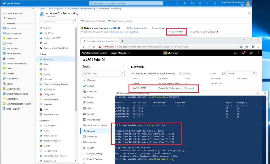 Connect to an Azure Virtual network