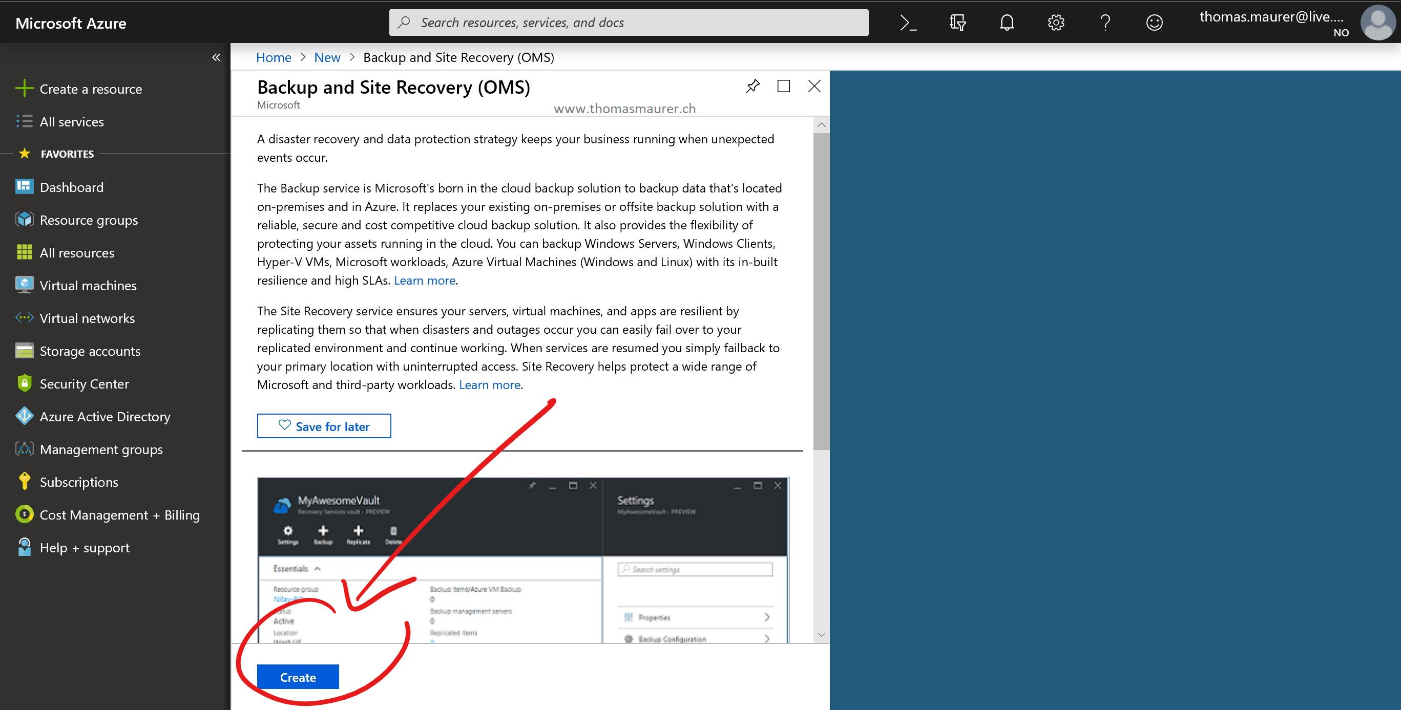 Backup Windows 10 to Microsoft Azure Backup - Thomas Maurer