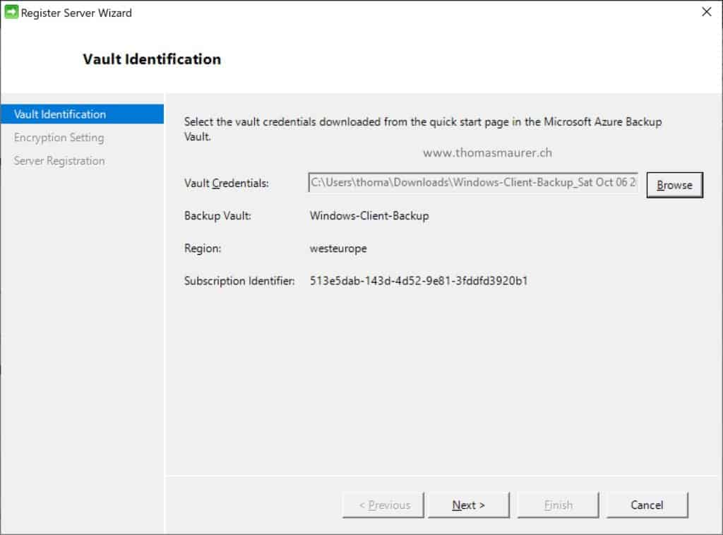 Register Azure Backup Recovery Vault