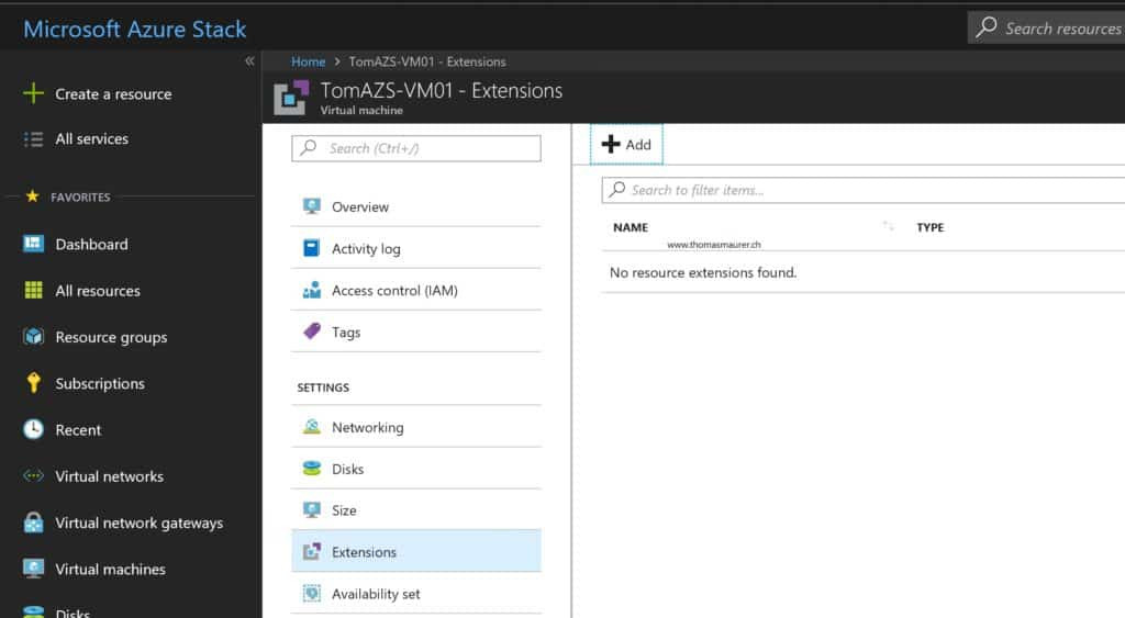 Azure Stack VM Extensions