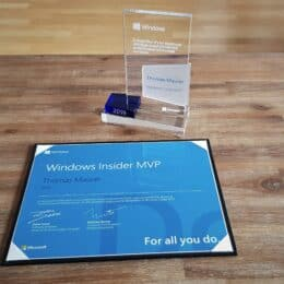 Windows Insider MVP Award 2019