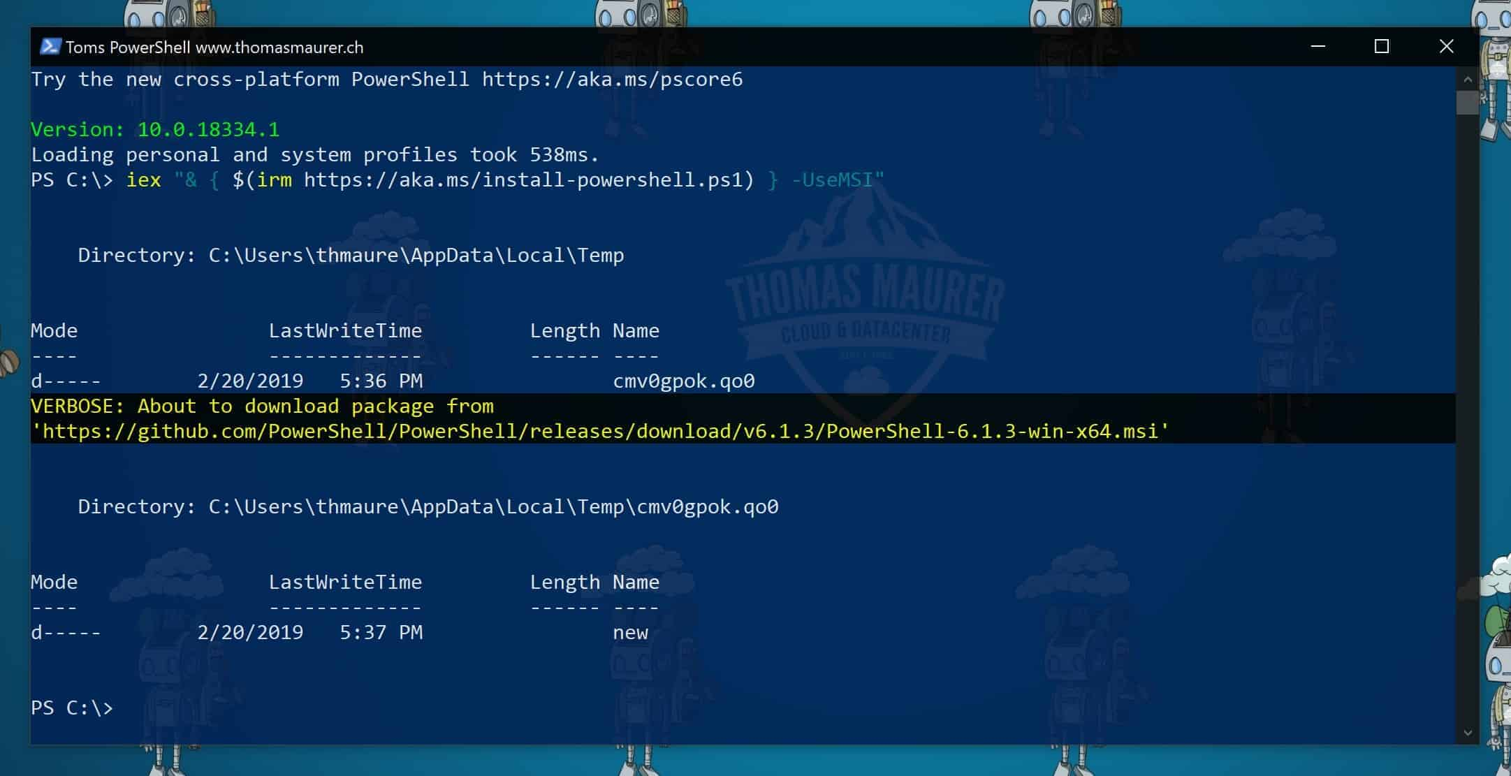 How to Install and Update PowerShell 6 - Thomas Maurer