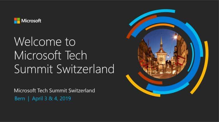 Microsoft Tech Summit Switzerland 2019