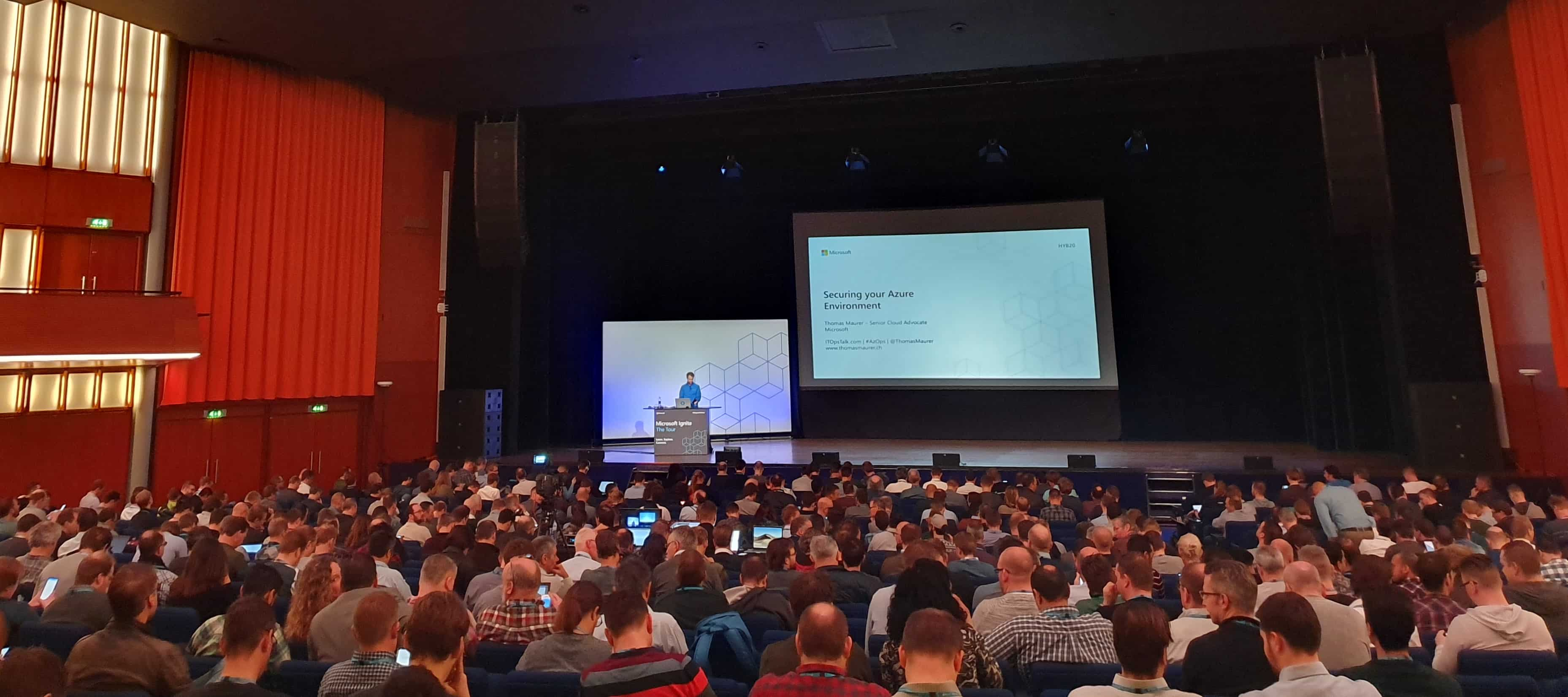 Microsoft Ignite The Tour Amsterdam 2019 Thomas Maurer Speaking Azure Security