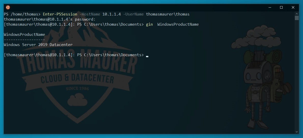 Setup PowerShell SSH Remoting in PowerShell 6 - Thomas Maurer