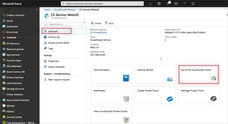 Create VM in the Azure Portal