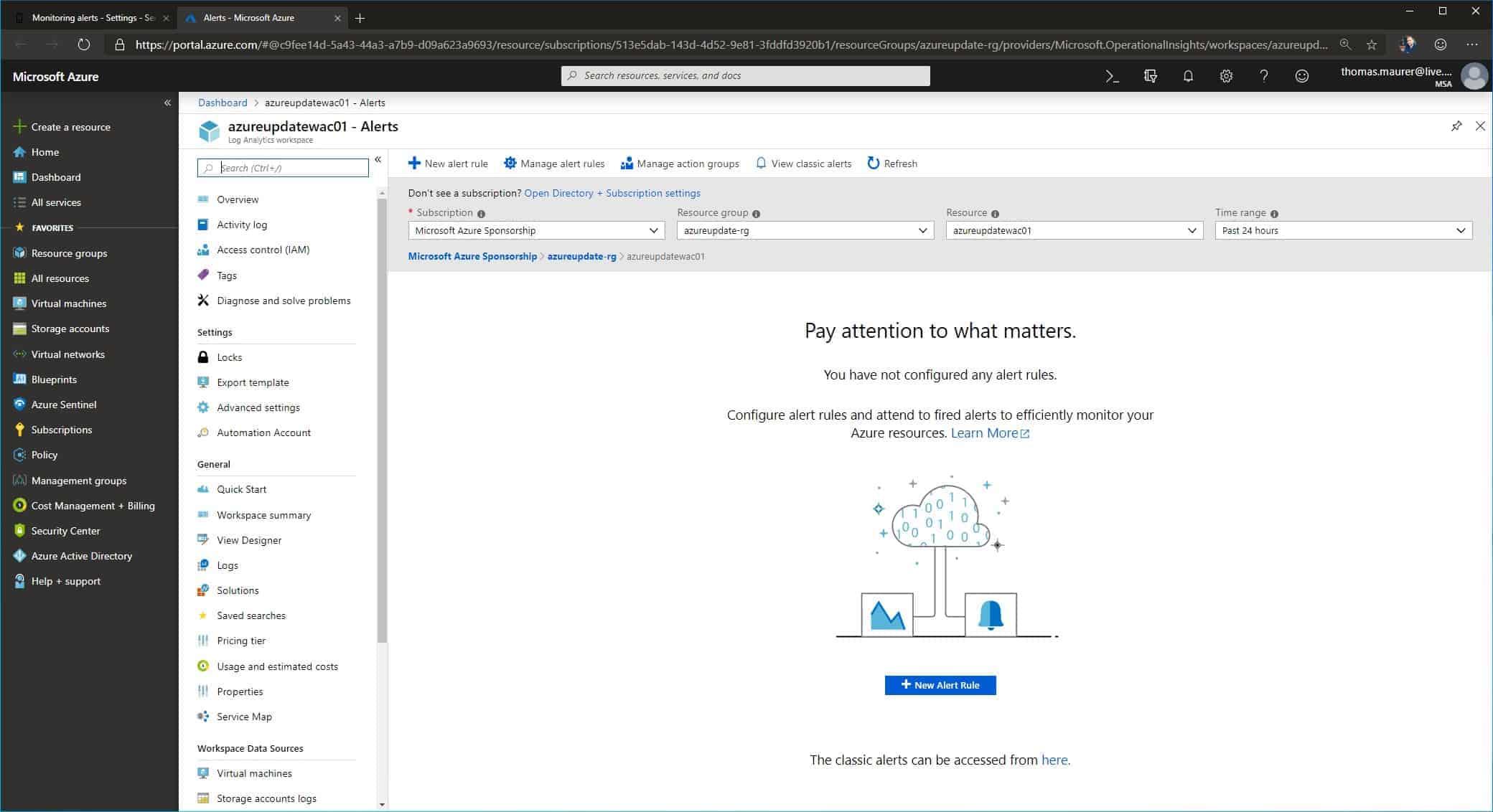 Connect Windows Admin Center to Azure Monitor - Thomas Maurer