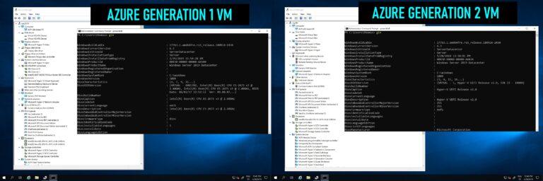 Azure Generation 1 vs Generation 2 VM