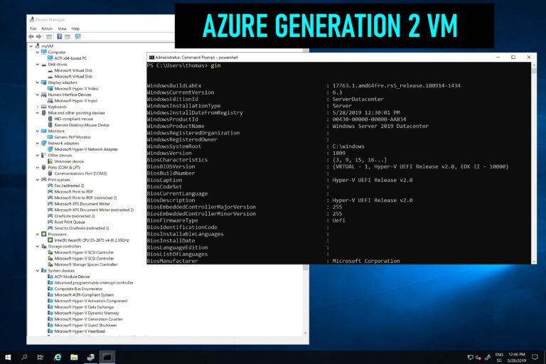 Azure Generation 2 Virtual machine