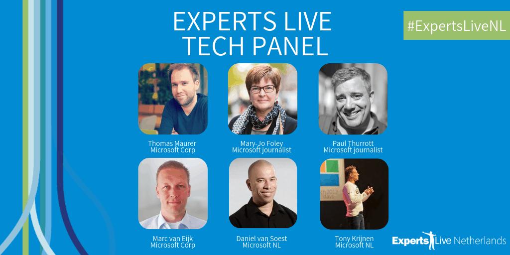 Experts Live Netherlands 2019 - Tech panel