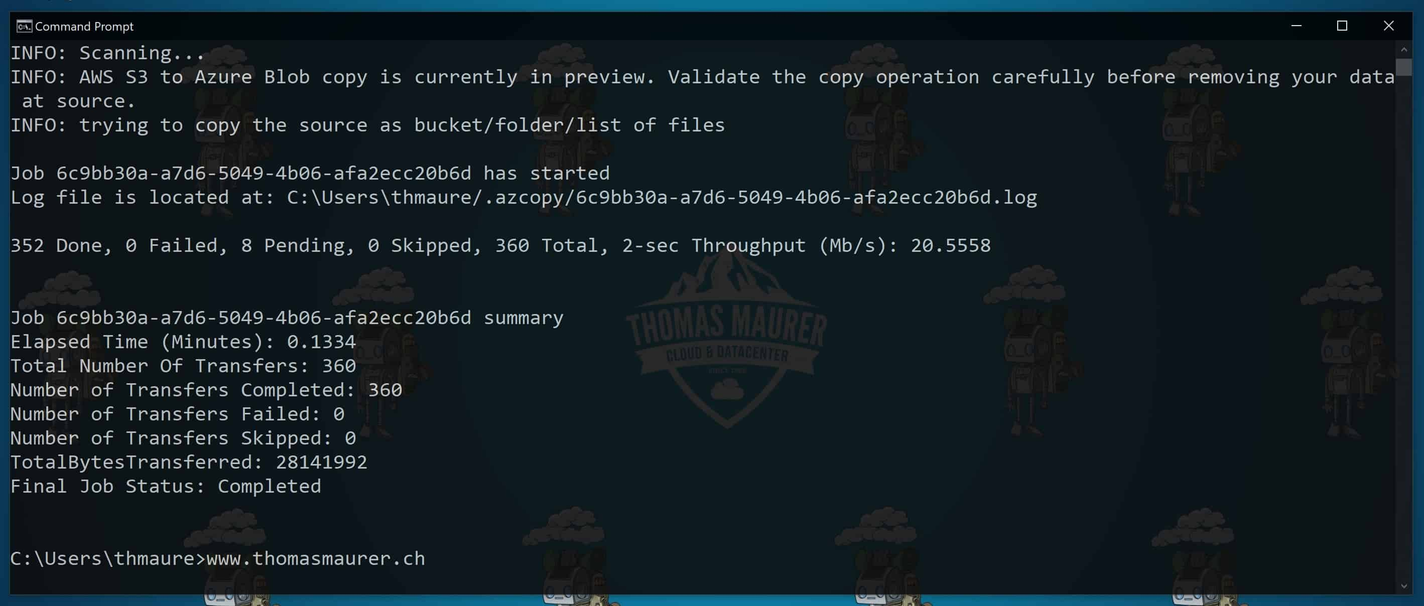 Migrate Amazon S3 bucket to Azure blob Storage
