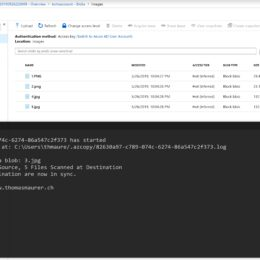 Synchronize Folder with Azure Blob Storage using AzCopy