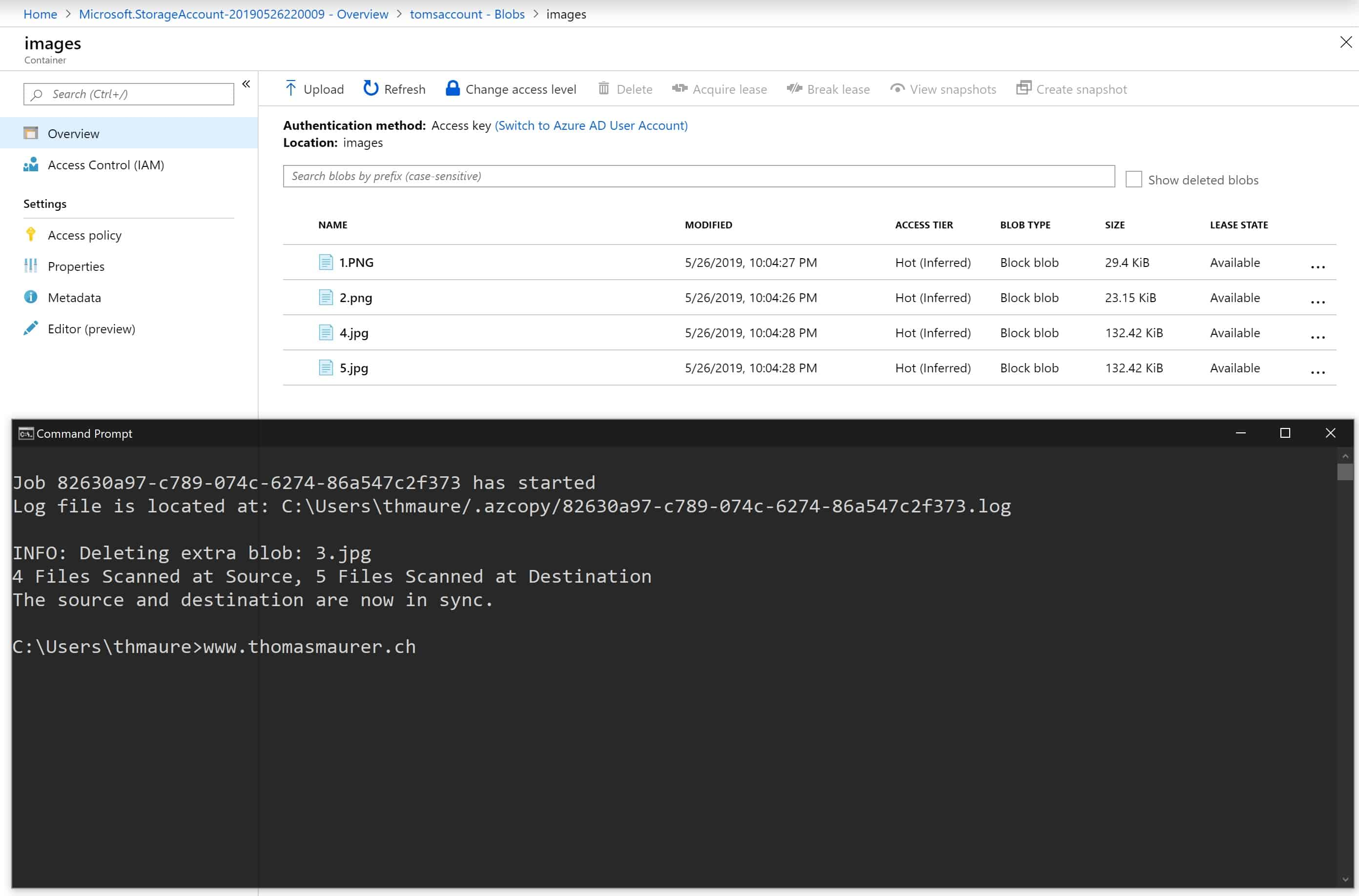 Sync Folder with Azure Blob Storage - Thomas Maurer