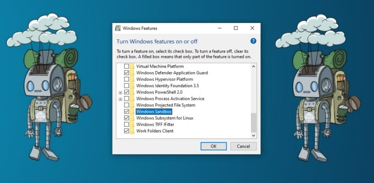 Windows Feature Windows Sandbox