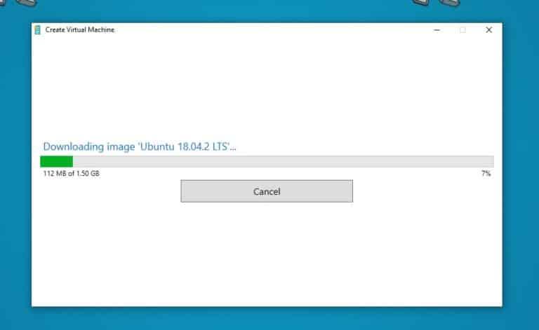 Downloading Ubuntu Hyper-V VM Image