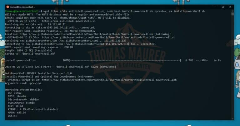 Install PowerShell 7 on Linux