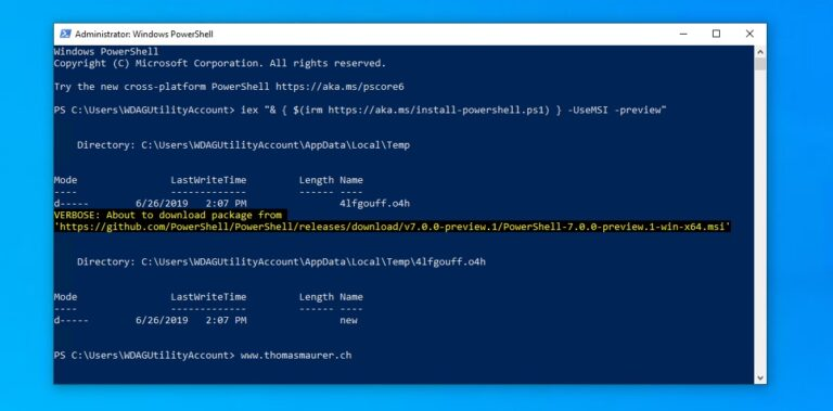 Install and Update PowerShell 7