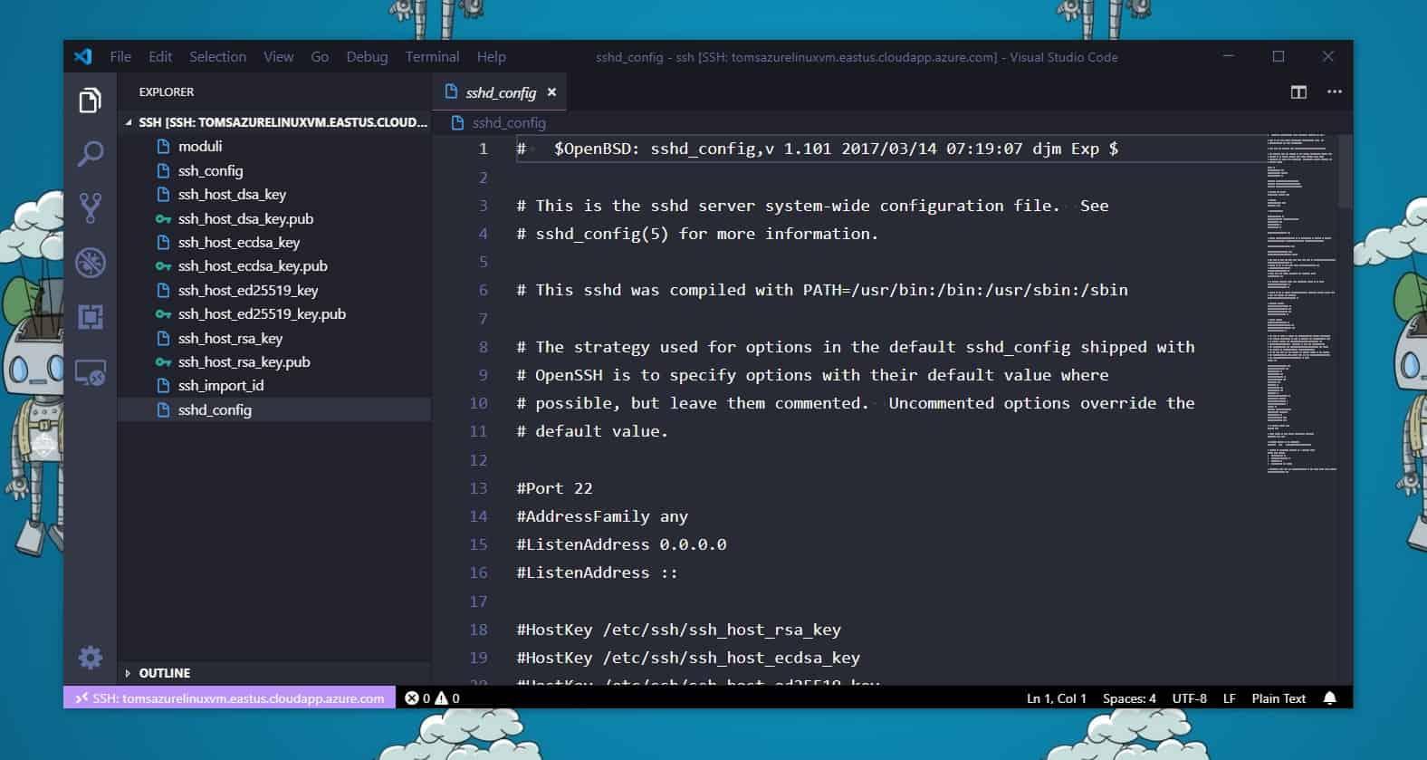 SSH Remote Edit File with Visual Studio Code